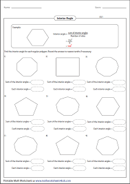 How To Calculate Interior Angles Of An Irregular Polygon Polygon Worksheets