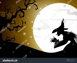 halloween background witch moon halloween witch full moon