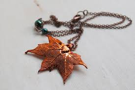 real leaf necklace images Small fallen copper maple leaf necklace real maple leaf pendant JPG