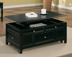 lift top cocktail table top cocktail table in black finish by coaster 701138
