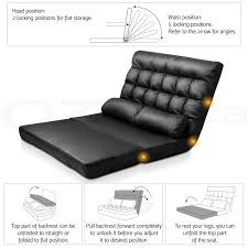 5 Position Floor Chair Lounge Sofa Bed Double Size Floor Recliner Folding Chaise Chair