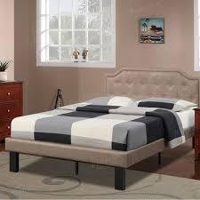 bobkona finely upholstered platform twin bed