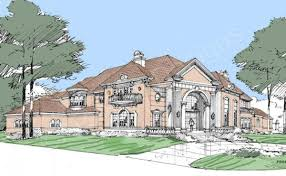 Front View House Plans Hermann Park Residential House Plans Luxury House Plans