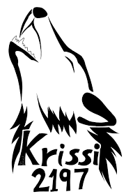 tribal howling wolf signature by tsukihowl on deviantart