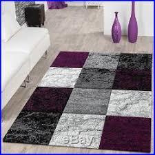 Modern Purple Rug Large Modern Rug Marble Look Living Room Mat Purple Grey Black