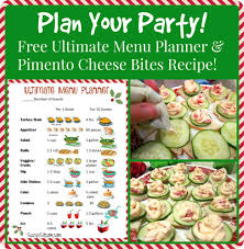 free printable menu planner template plan your party ultimate menu planner and pimiento cheese bites weight watchers party food ideas