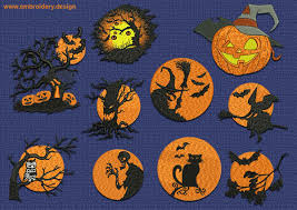 spooky haloween pictures spooky halloween embroidery designs pack collection of 10 www