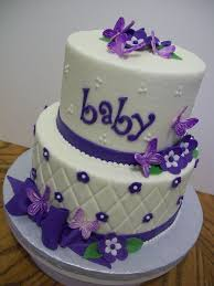 baby shower cake red ribbon amazing flower and purple ribbon baby