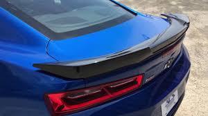 camaro rear spoiler camaro six ss 2016 2017 rear deck spoiler installation by acs