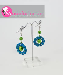 earrings online india buy green blue polymer clay hanging earring shop online free shipping
