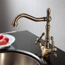 ENKI Traditional Victorian Kitchen Sink Mixer Monobloc Tap Brass - Brass kitchen sink