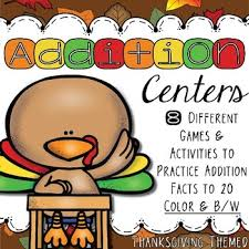 addition thanksgiving math centers by texan teach tpt