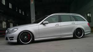 bagged mercedes wagon m benz w204 airrex digital air suspension system youtube