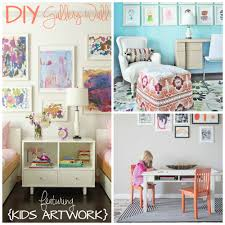 diy kids art gallery walls creative juice