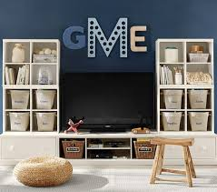 Desk Wall System Cameron Extra Wide Media Wall System Pottery Barn Kids