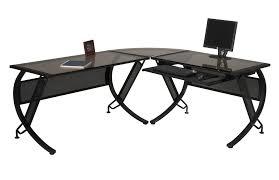 Black Glass Top Computer Desk Top Glass Top Computer Desk On Computer Desk With Tempered Glass