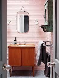 pink countertops bathroom ideas suite and brown retro tile