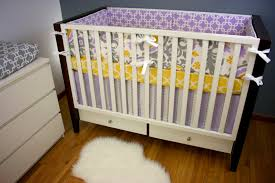 purple yellow and gray crib bedding ktactical decoration