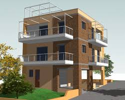 three story building project three storey residential building made architects house