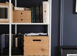 Pine Filing Cabinet Aha Hack Pine Storage Crate As File Cabinet The Organized Home