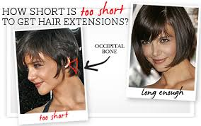 extensions on very very short hair how long does your hair have to be for hair extensions using