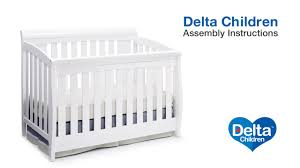 delta children clermont 4 in 1 crib assembly video youtube