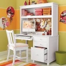 White Computer Desk Hutch White Desk With Hutch Foter