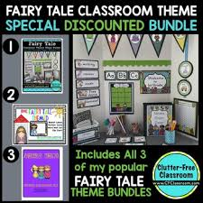 Classroom Theme Decor Fairy Tale Theme Decor Editable 3 Product Bundle By Clutter Free