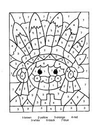 coloring pages hard color by number worksheets difficult color
