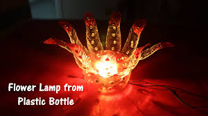 Interior Decoration With Waste Material by Diy Best Out Of Waste Plastic Bottle Flower Lamp Youtube