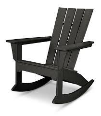 Composite Adirondack Rocking Chairs Polywood Quattro Adirondack Rocker Chair U0026 Reviews Wayfair