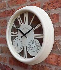 garden clock thermometer ebay