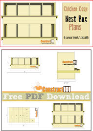 chicken coop nest box plans 4 compartments stackable pdf