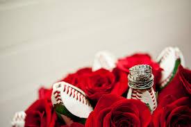 baseball wedding ring and keith s baseball themed wedding 5 sports roses