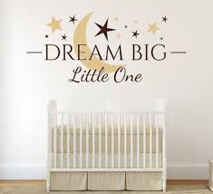 kids wall art stickers personalised with their own names dream big little one wall art sticker