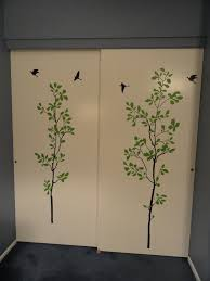 at home by baye sewing room closet door decals