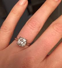 cushion solitaire engagement rings real engagement rings cushion diamonds weddingbee