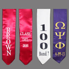 personalized graduation stoles personalized embroidered satin stoles 60 72 inch graduation
