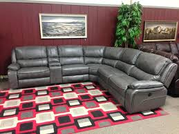 Leather Sectional Sofa With Power Recliner Sectional Lexus Leather Power Motion Sectional Ghost Steel Gray