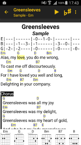 linkesoft songbook your lyrics and chords on android smartphones