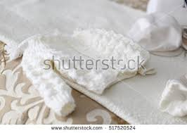 baptism accessories white baby boy christening baptism sweater stock photo 517520524