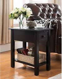black side table with shelf sutton black side table w charging station end accent stand drawer