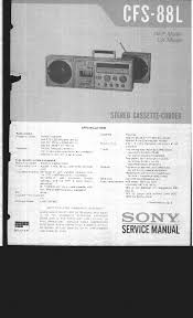 sony cfs 88l service manual download schematics eeprom repair