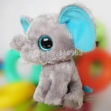 ty peanut gray pink elephant 5