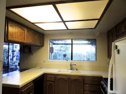 Kitchen Ceiling Lights Fluorescent Kitchen Chic Diy Kitchen Light Fixtures Update Fluorescent