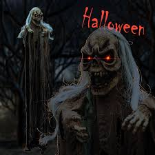 Lifesize Animated Halloween Props by Hanging Animated Halloween Prop Reaper Ghost 6 6ft 2m Lifesize