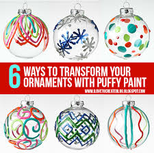 14 ways to make the paint ornament ilovetocreate