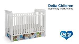 Converting Crib To Toddler Bed Manual by Delta Children Columbia U0026 Winter Park 3 In 1 Crib Assembly Video