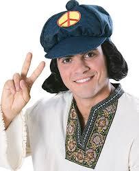 70s Halloween Costumes Men Mod Hippie Hat U0026 Hair Men 60s 70s Costume Men Wig Ebay