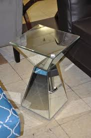 Mirrored Pyramid Living Room Accent Sideend Table Shop Checkouts